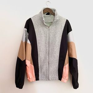 Urban Outfitters Colour Block Zip Up Jacket